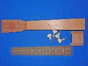 Mahogany tenor neck and rosewood fretboard