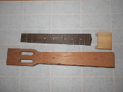 Mahogany slotthead tenor neck and rosewood fretboard