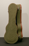 Soprano Green Canvas Hardshell Ukulele Case