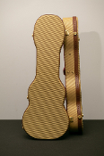 Baritone Gold Tweed Hardshell Ukulele Case